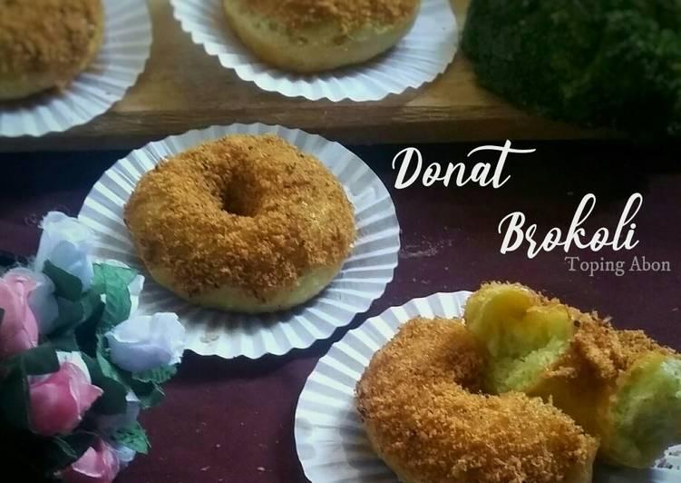 Donat Brokoli toping Abon (Takaran Sendok)