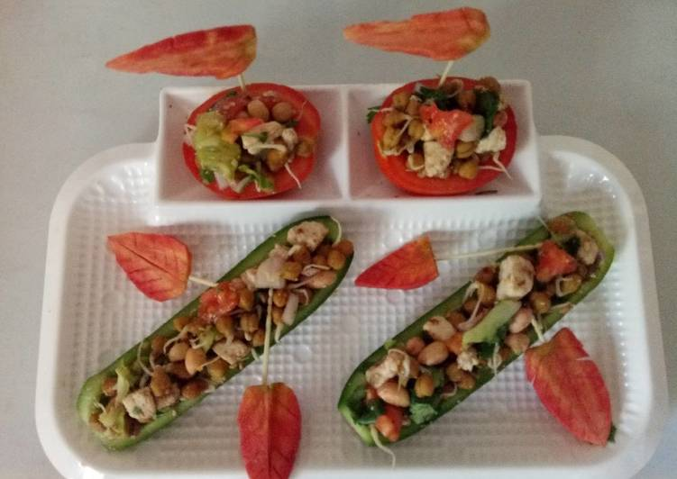 Recipe of Super Quick Homemade Protein enriched boat salad