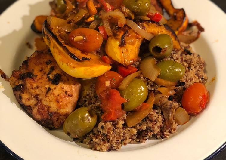 Recipe of Super Quick Homemade Moroccan chicken and pumpkin with quinoa