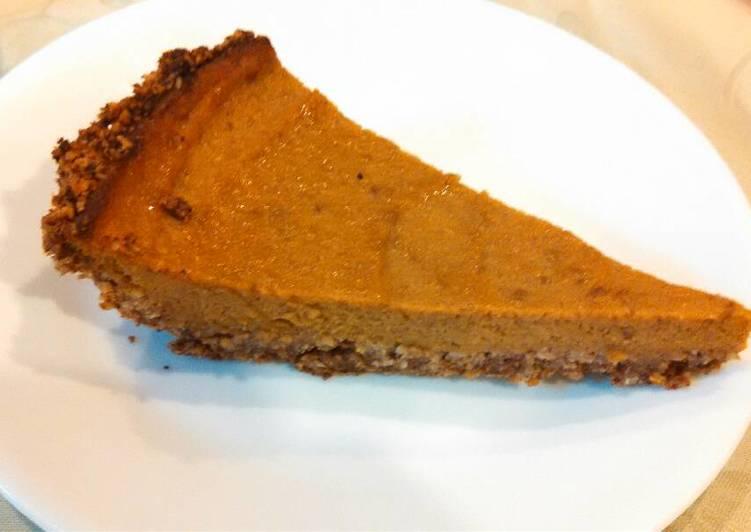 Recipe of Speedy Healthiest Pumpkin pie (sugar free, gluten free, dairy free)
