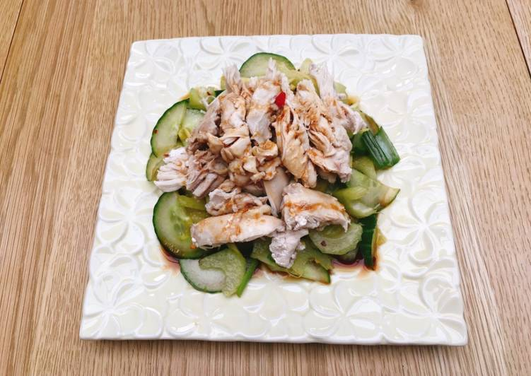 Chicken cucumber and celery salad