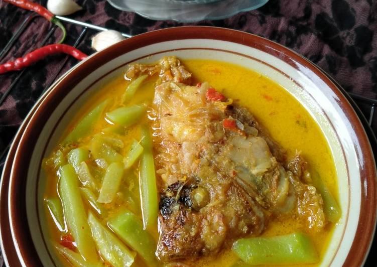 Gulai labu Siem+kepala ikan nila