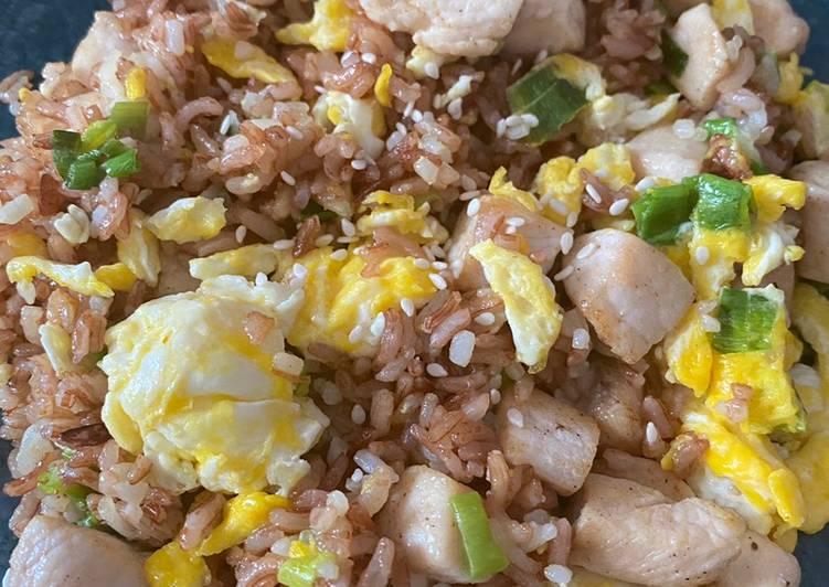 Nasi merah goreng (SEHAT)