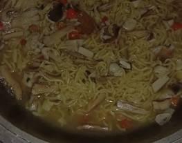 Resep masak Jamur barat mix mie sedap kuah