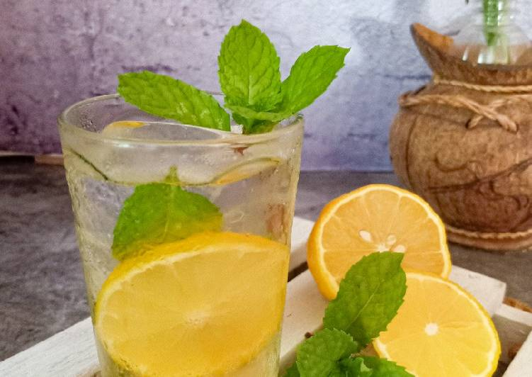 Ice Lemon Mint Tea - resepipouler.com