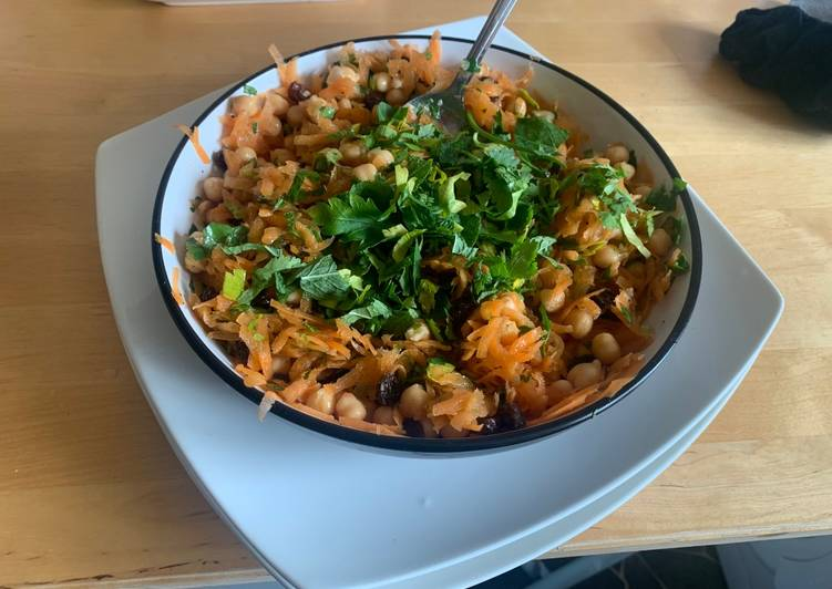 Recipe: Tasty Moroccan Carrot and Chickpea Salad