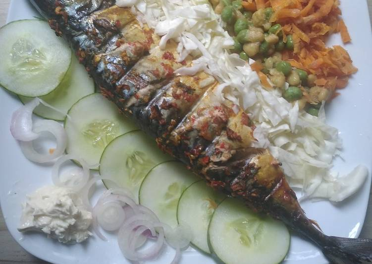 Grilled mackerel (Titus) fish, Some Foods That Are Good For Your Heart