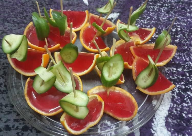 Recipe of Award-winning Jello Cucumber Boats