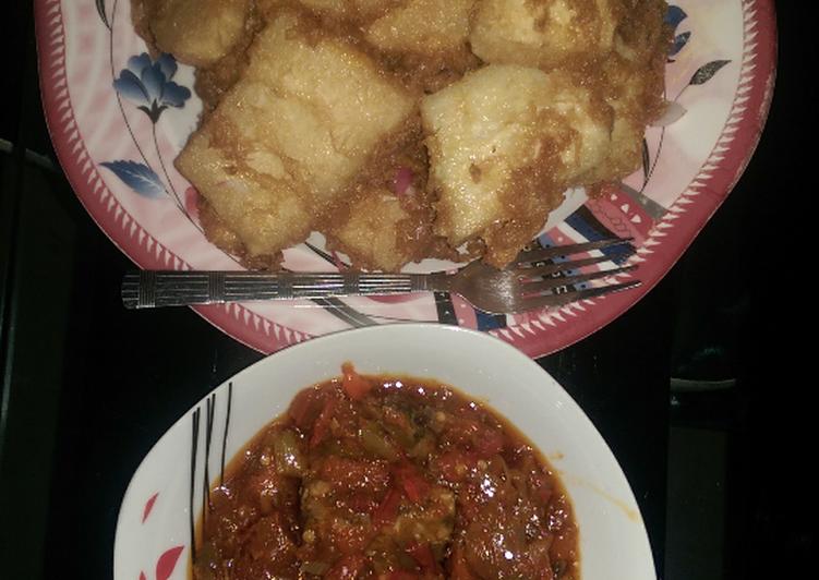 Golden yam n fish sauce