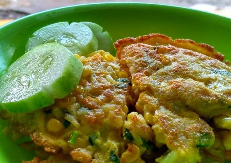 Omelet Nasi Jagung 😆