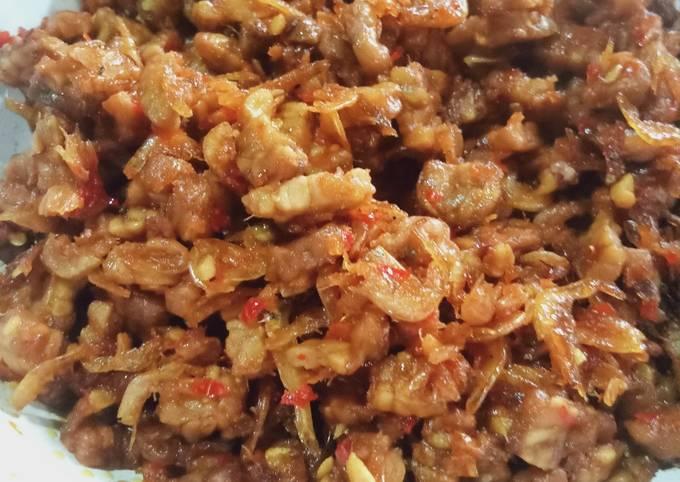 sambal goreng tempe ebi - resepenakbgt.com