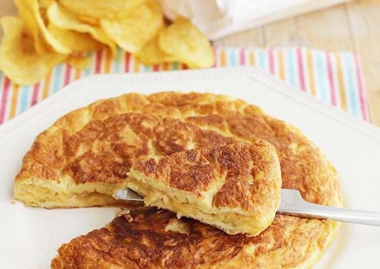Tortilla de patatas fritas de bolsa
