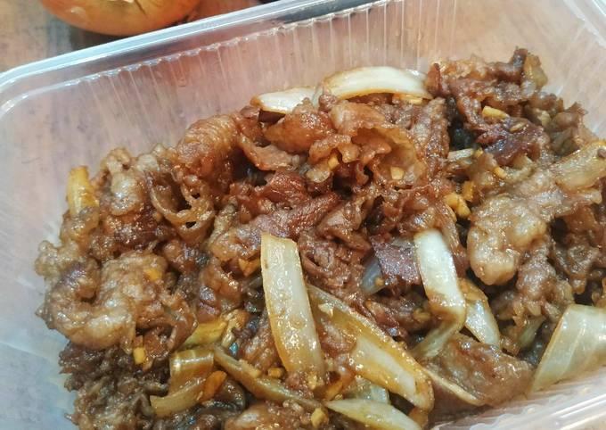 Simple Beef Bowl Ala Yoshinoya Cuman 3 Bahan 😋