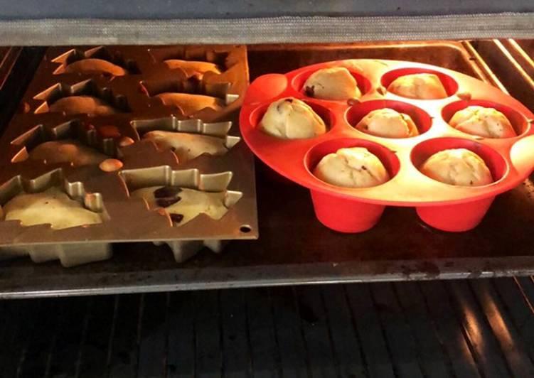 Muffins à la banane et aux pépites de chocolat