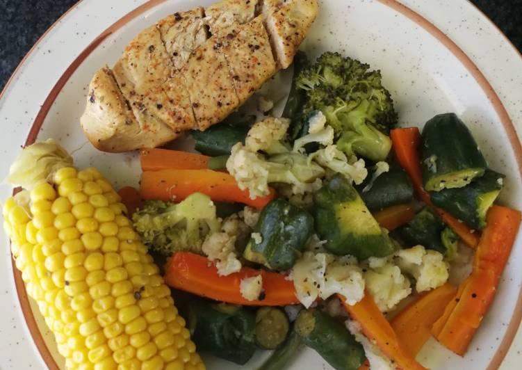 Healthy Grilled chicken fillet