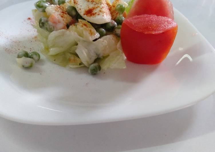 15 Minute How to Make Summer Egg russian salad