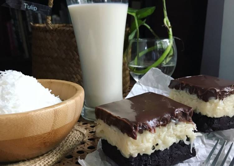 Bounty Coconut Brownies #syedmunawwar