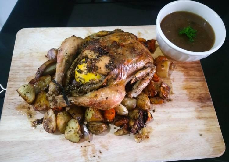 CLASSIC ROASTED CHICKEN (Ayam Panggang Klasik) - cookandrecipe.com