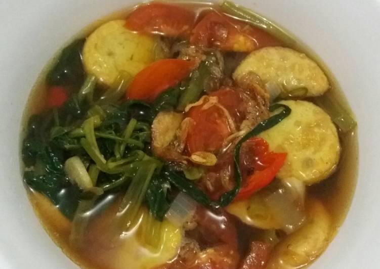 Kangkung Tofu Kuah Sayur Asam