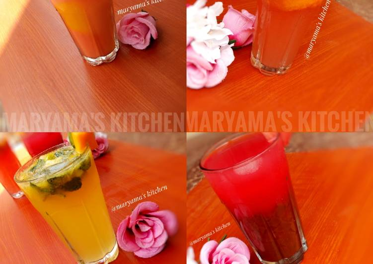 4 simple iftar drinks/mojito's