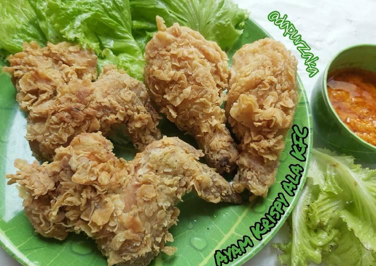 Resep Membuat 114》Ayam Krispy Ala KFC Tips kriuk2 nya aweeet berjam2 😍 Lezat