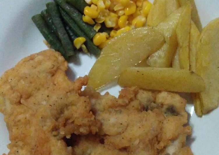 Resep Fish n chips (ikan lele) Anti Gagal