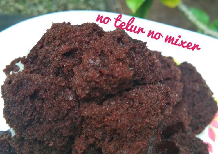 Resep Bolu kukus coklat no 🥚no mixer ngakak🤭, Bisa Manjain Lidah