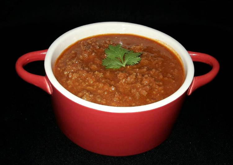 Minced beef stew