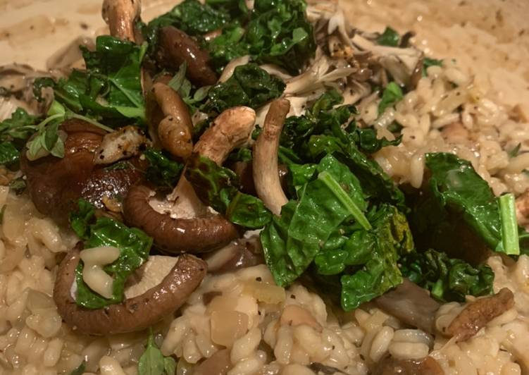 Simple Way to Prepare Super Quick Homemade Creamy mixed mushroom risotto