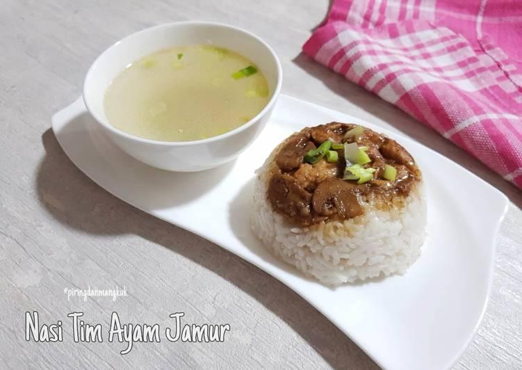 Nasi Tim Ayam Jamur