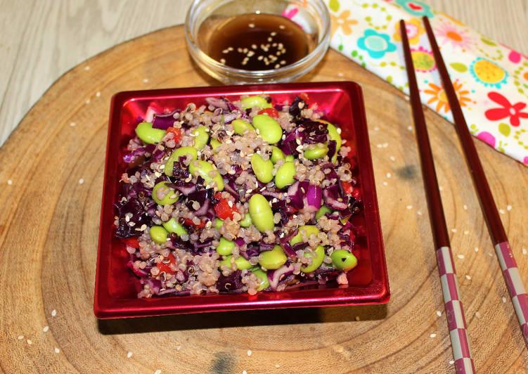 Ensalada de quinoa y edamame