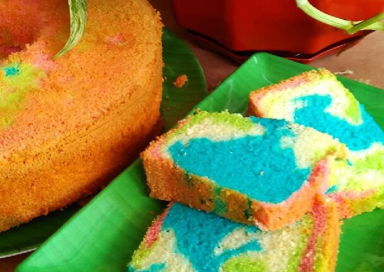 Ciffon cake pelangi