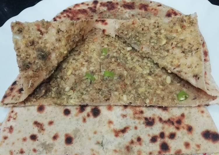Steps to Make Quick Sprouted Moong Paratha