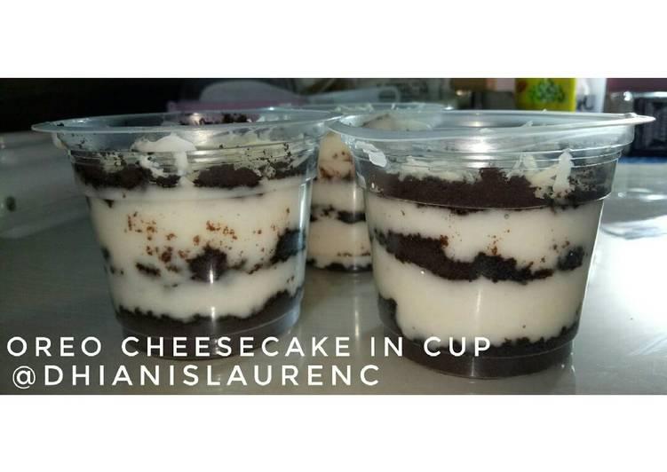 Resep Oreo Cheese Cake In Cup Lumer Oleh Milky Cookpad