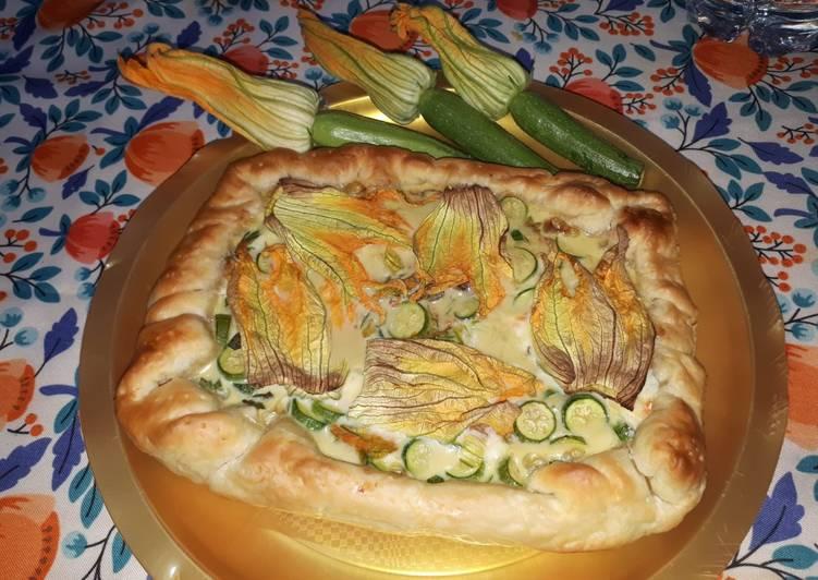Ricetta Torta salata zucchine e fiori