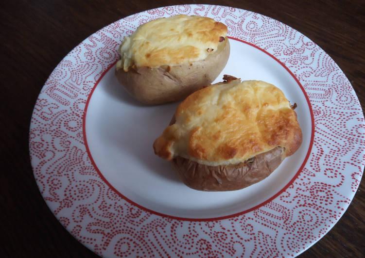 recette Pommes de terre soufflées aux lardons et fromage délicieux