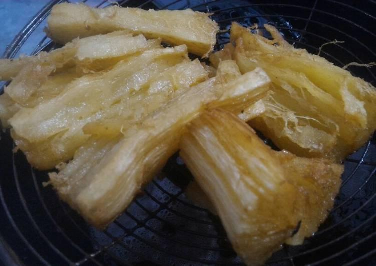 Singkong Goreng Presto Renyah dan empuk banget. (First try)