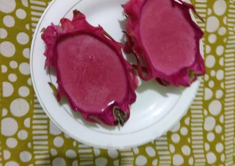 Puding buah naga creamy smoothie