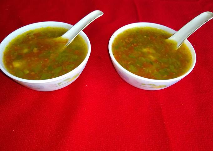 Simple Way to Make Quick Corn and vegetable soup