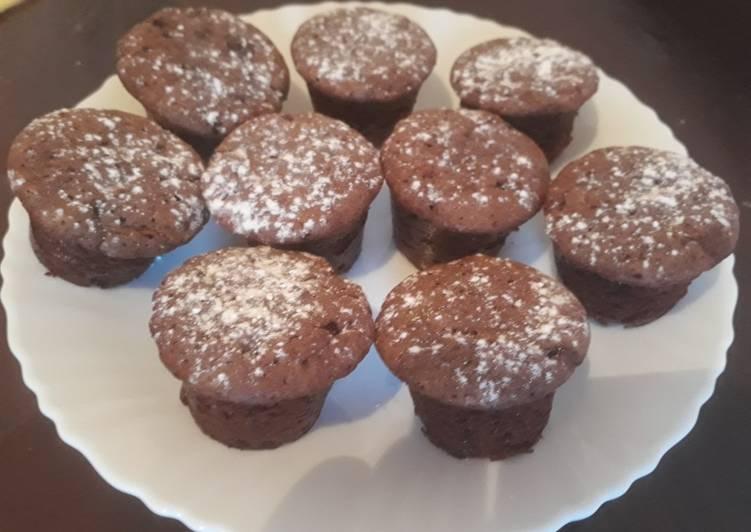 Comment Servir Mini moelleux au chocolat