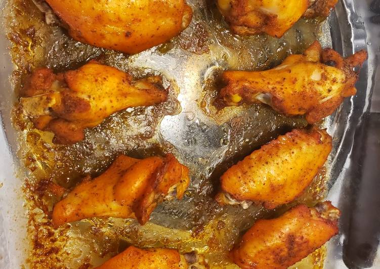 Recipe: Appetizing Oven baked chicken wings
