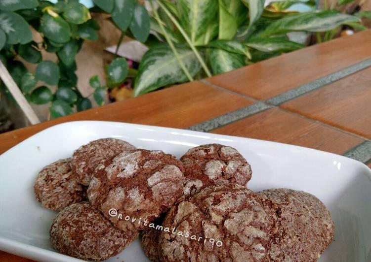 Cara Gampang Membuat Chocolate Crinkle Cookies Anti Gagal