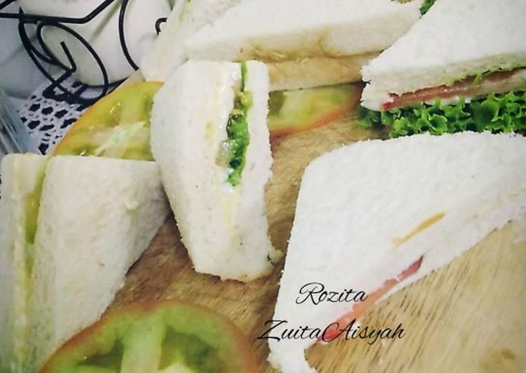 Resepi:  Sandwich telur mayo Simple