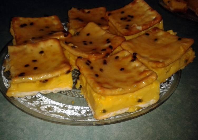 passionfruit/custard slice