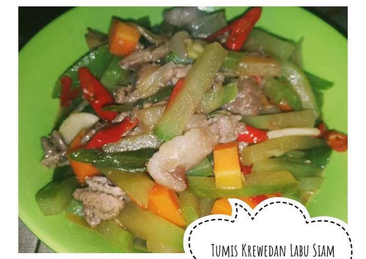 Masakan Rumahan = Tumis Krewedan (Daging Sapi) Labu Siam