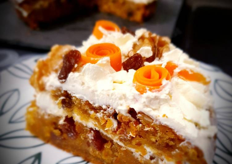 Carrot cake à la chantilly mascarpone