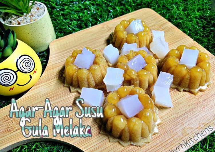 Agar-Agar Susu Gula Melaka - resepipouler.com