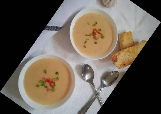 Roasted Potato and Garlic Soup