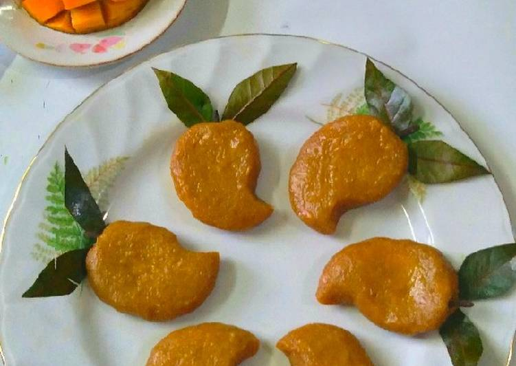 Simple Way to Make Perfect Stuffed Mango Shondesh