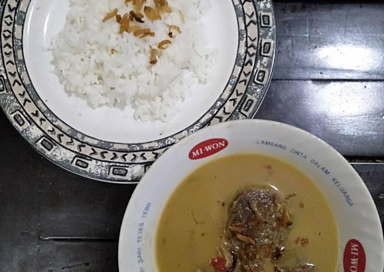 Nasi gandul khas Pati